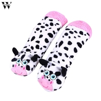 Womail 2018 Hot Sale New Fashion Women Ladies Cotton Warm Indoor Slippers Soft Plush Christmas Socks