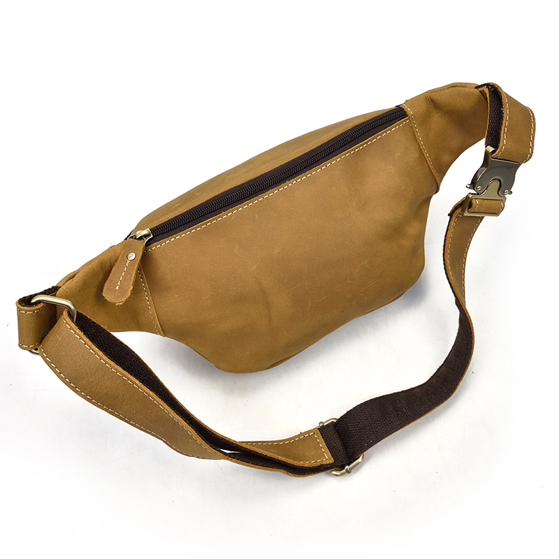 Men Genuine Leather waist Packs Fanny Pack Belt Bag Phone Pouch Mini Travel Chest Bag Male Small Crossbody Bag Leather Pouch-in Waist Packs from Luggage & Bags    3