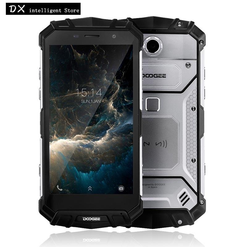 DOOGEE S60 lite MTK6750T Octa-Core IP68 Étanche Mobile Téléphone 5.2 FHD 4 gb + 32 gb Android7.0 16MP 5580 mah NFC D'empreintes Digitales 4g LTE