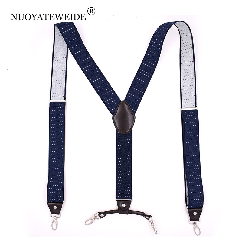 Suspensores 4 Clip Men's Suspenders Men Braces Supports Tirantes For Women Elastic Adjustable Pants Straps Clothing Suspensorio