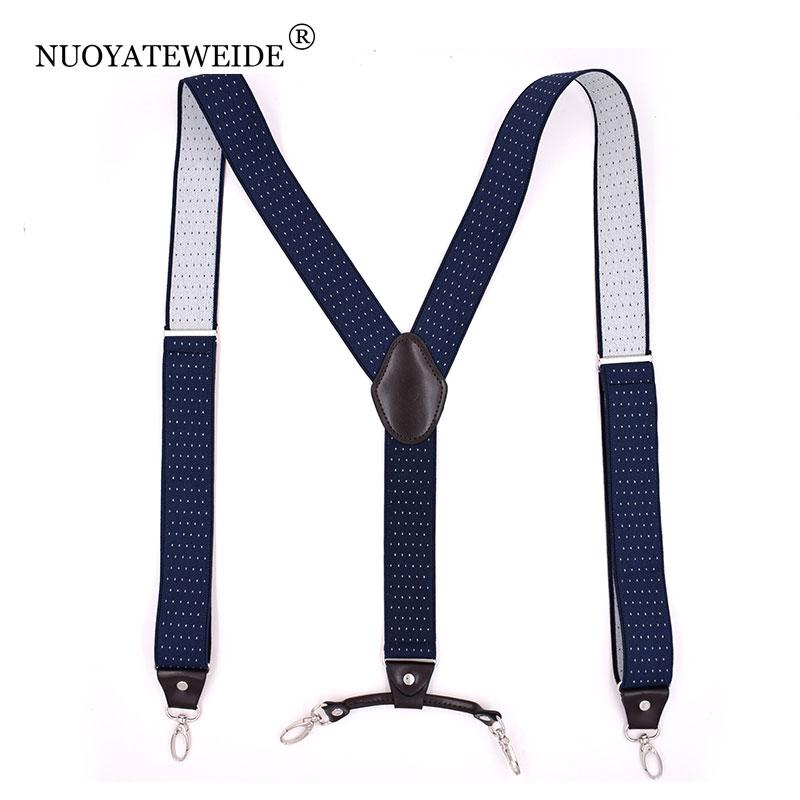 Suspensores 4 Clip Men's Suspenders Men Braces Supports Tirantes For Women Elastic Adjustable Pants Straps Clothing Suspensorio