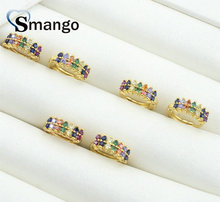 5 Pairs,The Rainbow Series,The Circle Shape, Hoop Earrings for Women Fashion Design, Gold Color,Can Mix Can Wholesale