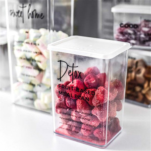 Image 3 - Nordic Snack Nut With Cover Receiving Box Refrigerator Plastic Fresh Keeping Sealing Box High and Low PP Cosmetic Storage Tank