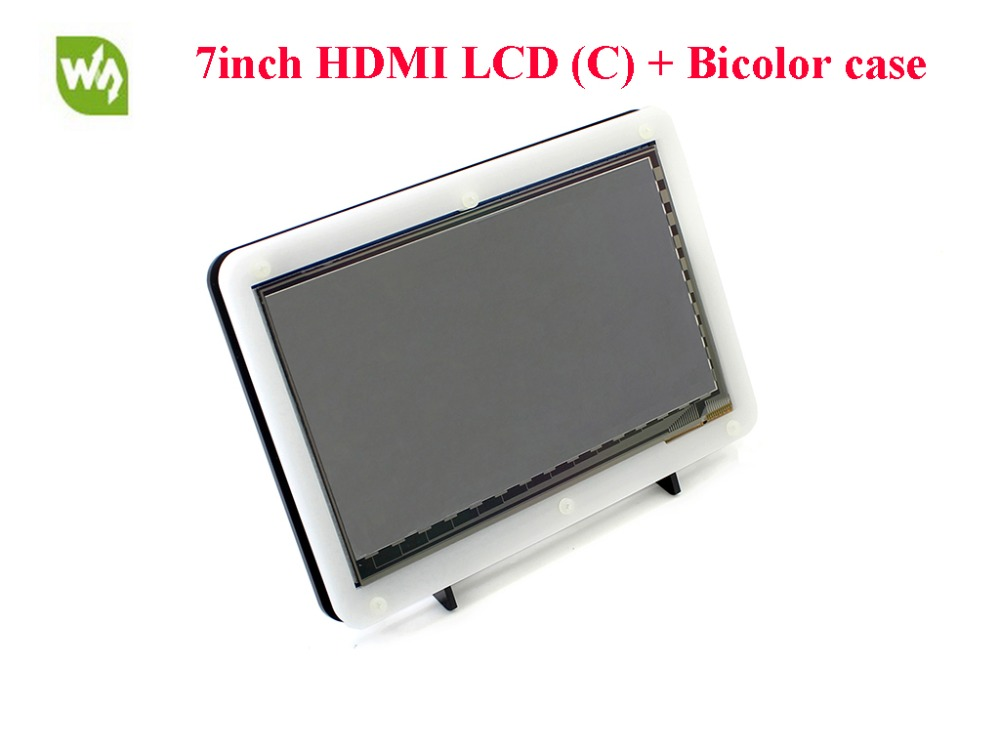 7inch HDMI LCD 1024*600 Capacitive Touch Screen IPS Display with Bicolor Case for Raspberry Pi Banana Pi / Banana Pro BB Black