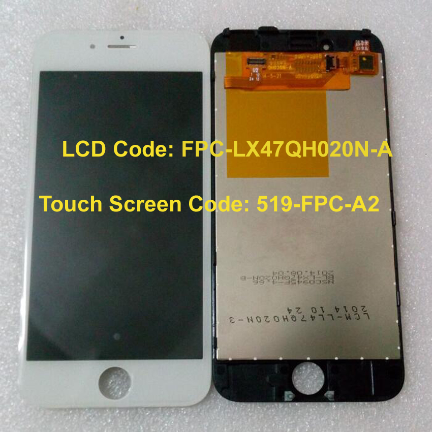 LCD Display Screen For China Clone Andriod for iPhone 6 Imitate FPC-LX47QH020N-A 519-FPC-A2 LCD Touch Screen Assembly