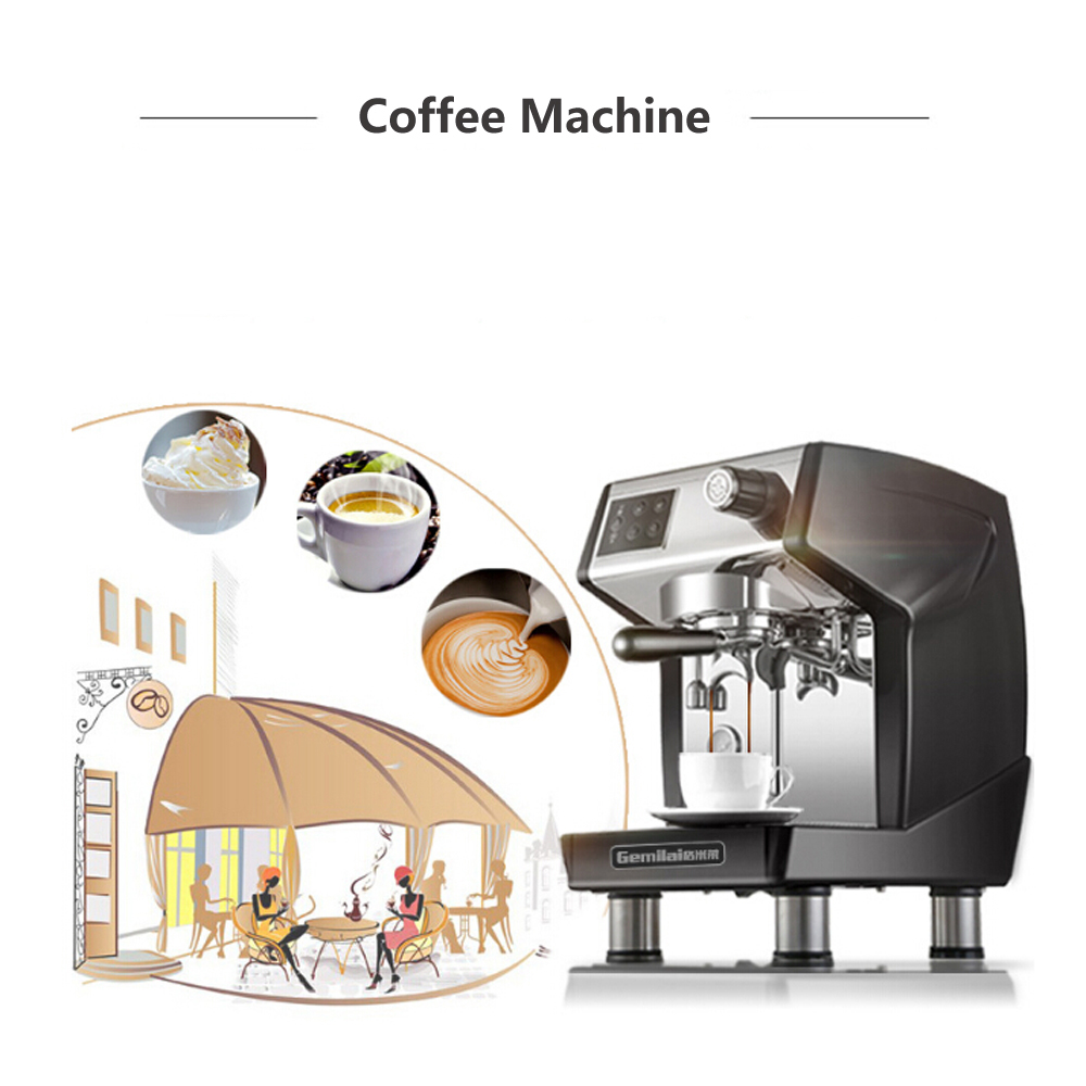 GZZT Coffee Machine Multifunction Automatic Commercial Household For Steam and Hot Water Maker Kitchen Accessories Tools