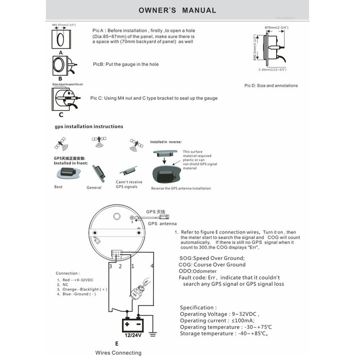 85mm Auto Car Truck Marine GPS Speedometer Waterproof Speed Sensor Meter Gauge Digital Odometer Automobiles Replacement Parts 13