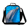 Personalized Dolphins 3D Print girls lunch bags fashion thermal lunch box bag for students womens work food bags lunch container