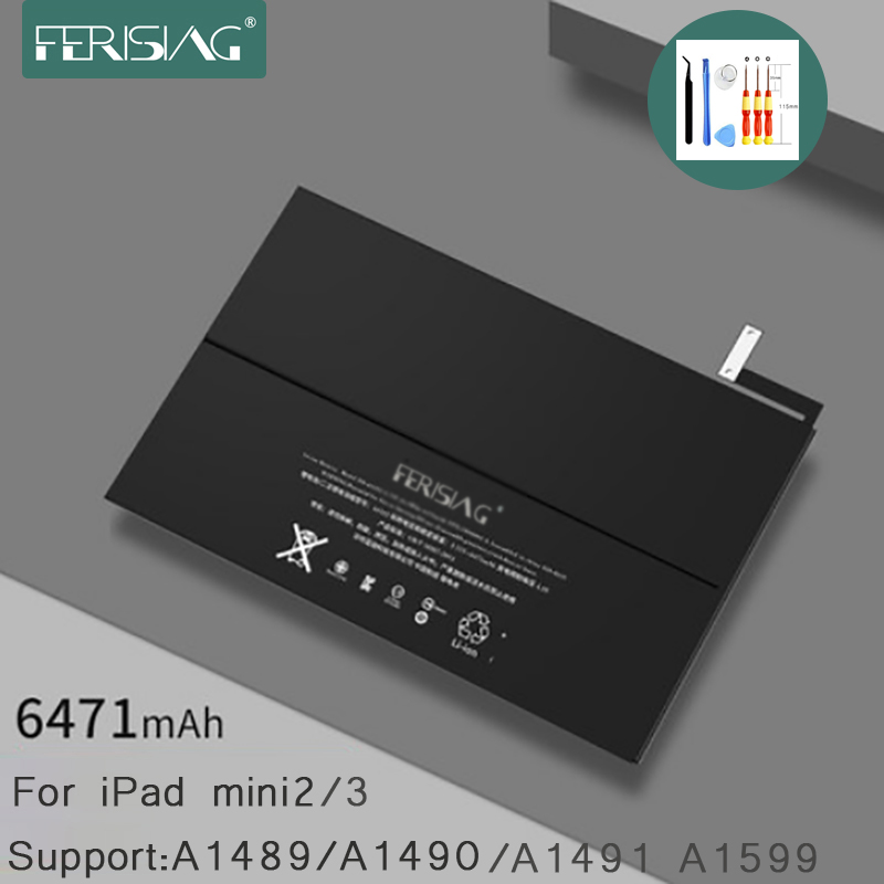 FERISING для Apple iPad mini 2 3 Tablet Батарея 2019 новый оригинальный A1489 A1490 A1491 A1599 Замена Bateria Mini2 Mini3 + Инструменты