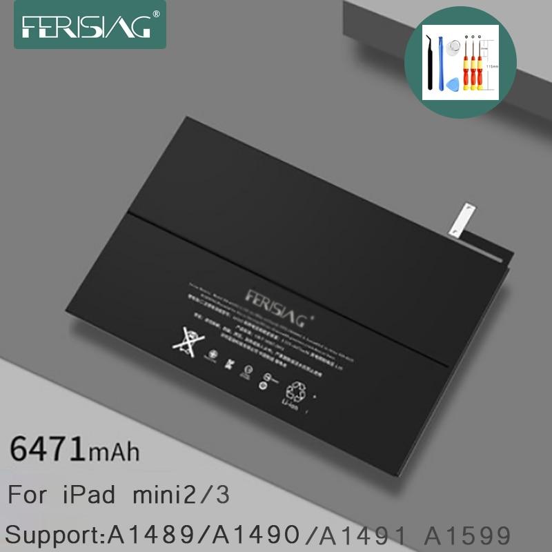 FERISING for Apple iPad mini 2 3 Tablet Battery 2019 New Original A1489 A1490 A1491 A1599 Replacement Bateria Mini2 Mini3 +Tools