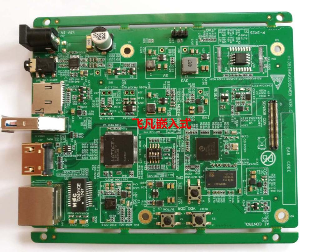 Board Official Supports Development-Board for Hass Hi3516av200/Imx274 H.265/264 HD Coding/Board/Supports/Two-ways.