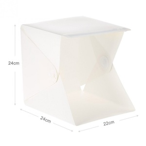 Image 3 - Mini Portatile Pieghevole Lightbox Fotografia In Studio Softbox Luce LED photo Soft Box per iphone DSLR Macchina Fotografica Photo Sfondo