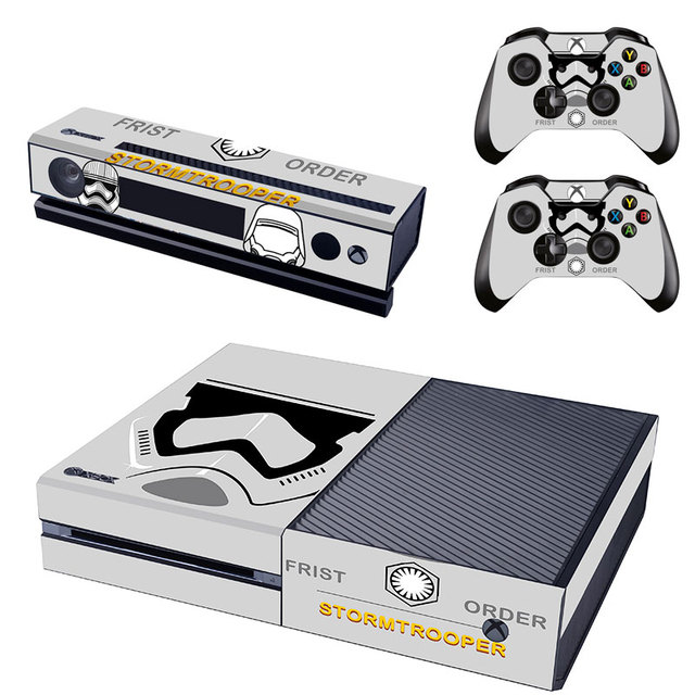 Star warsstorm trooper vinly skin sticker for microsoft xbox one console and controller skins