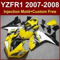 Precio bajo amarillo set de carenados para YAMAHA YZFR1 2007 2008 kit de carenado YZF1000 YZF R1 YZF R1 1000 07 08 F5TG + 7 Regalos