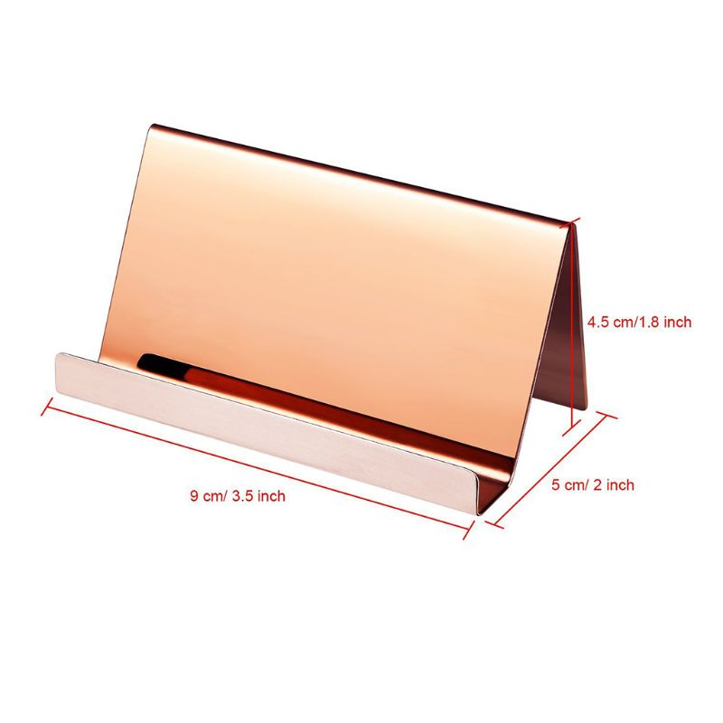 High-End Stainless Steel Business Name Card Holder Display Stand Rack Desktop Table Organizer 8 Colors l29k 6
