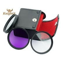 52mm 58mm 67mm 72mm CPL + UV + FLD Kit FILTRO Polarizado bolsa para nikon d3200 d5000 d5100 d7000 d60 d40 con 18-55mm lente de x