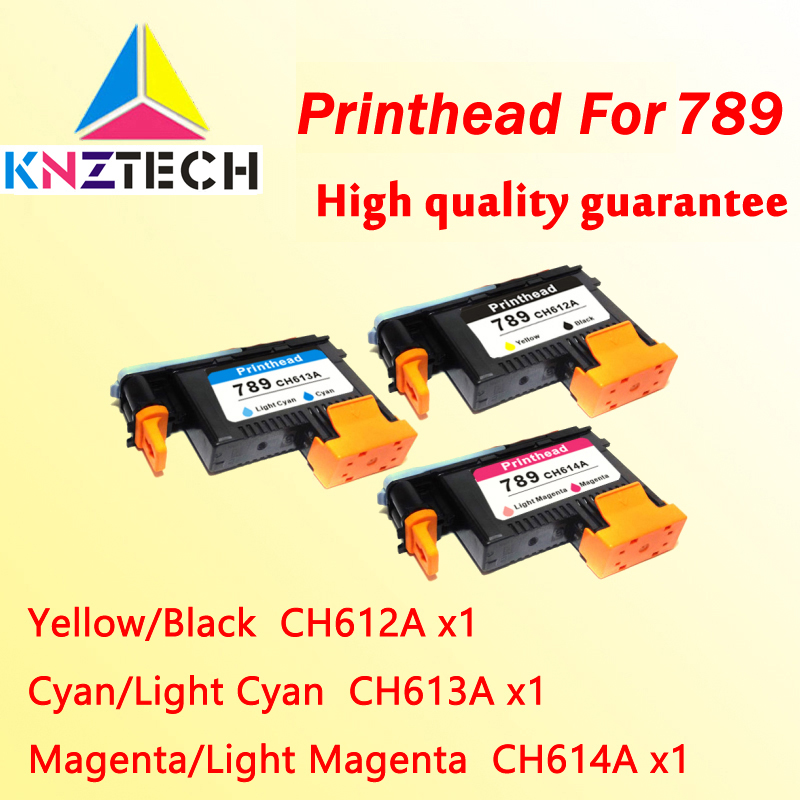 3x compatible for hp789 CH612A CH613A CH614A L25500 789 print head 1x 789 printhead yellow black for hp 789 l25500 printer head ch612a