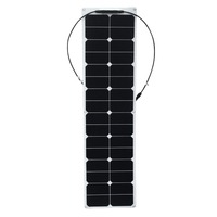 XINPUGUANG ETFE flexible Watt 50W Flexible Solar Panel with Insulating Backsheet Sun Power Cells 18V 12V for RV Car Boat Camper