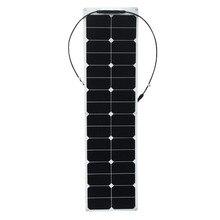 XINPUGUANG solar panel 50w ETFE flexible Watt 50 W Panel Solar Flexible con aislante bolsas sol células de energía 18 V 12 V para coche RV barco Camper fotovoltaica placa solar 12v bateria solar caravan camping bote