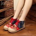 2017 весной и Осенью Ретро национальный Новый Китайский ручной работы вышитые туфли женщина этнические обувь одного женщина квартиры toe форма