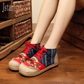 2017 spring and Autumn Retro national New Chinese handmade embroidered shoes woman ethnic single shoes woman flats toe shape