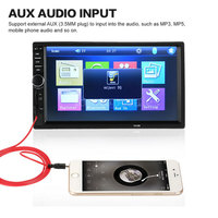 Car MP5 Player 7 Inches Din Touch Screen Car Bluetooth Support FM USB TF Card Car