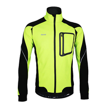 Winter Warm Up Fleece Bicycle Clothing Men Thermal Cycling Jacket Size M To XXXL Windproof Sports Coat MTB Bike Jersey
