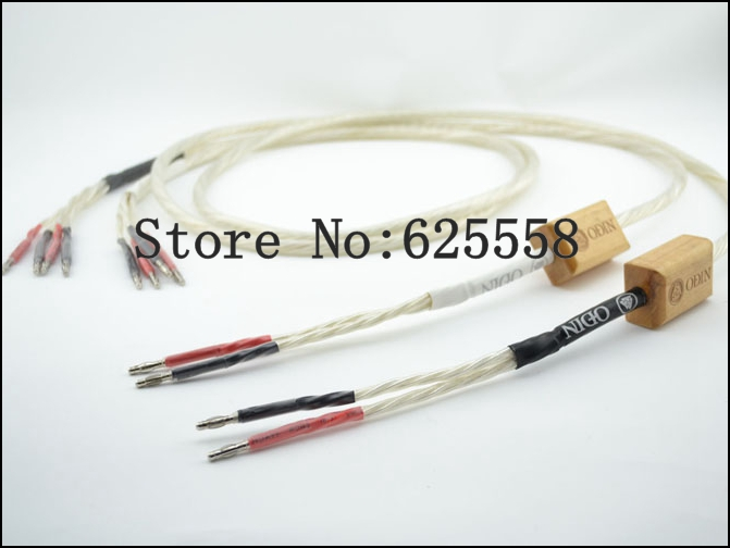 Free shipping Nordost speaker cables Nordost Odin speaker cable with banana plug 2 to 4 100% new pair 2.5M цена и фото