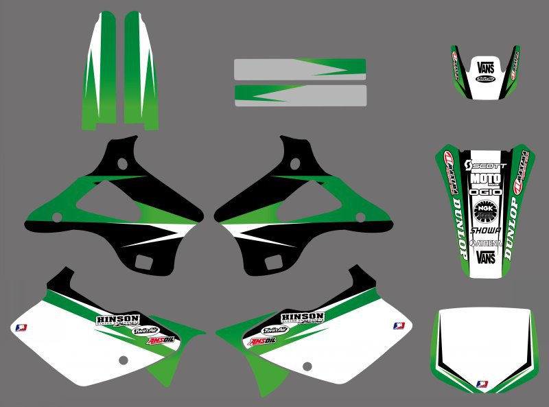 0222 New Style TEAM GRAPHICS&BACKGROUNDS DECALS STICKERS Kits for Kawasaki KX125 KX250 1994 1995 1996 1997 1998 KX 125 250 motorcycle leather soft anti slip seat cover for kawasaki kx125 kx250 kx 125 250 1994 1995 1996 1997 1998 motocross dirt bike