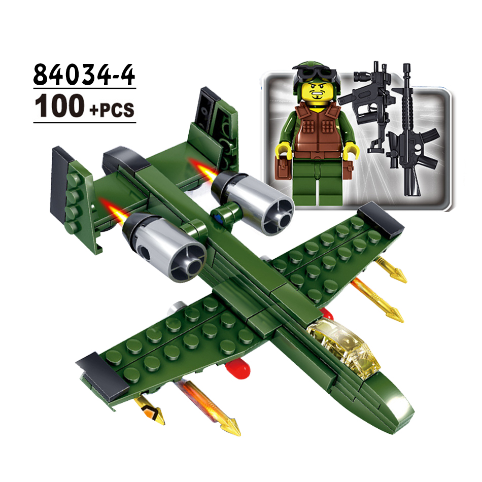 Military Army 6pcs World War 2 Weapon Tank Helicopter Building Blocks set DIY Bricks Compatible Legoed City Toy for children boy