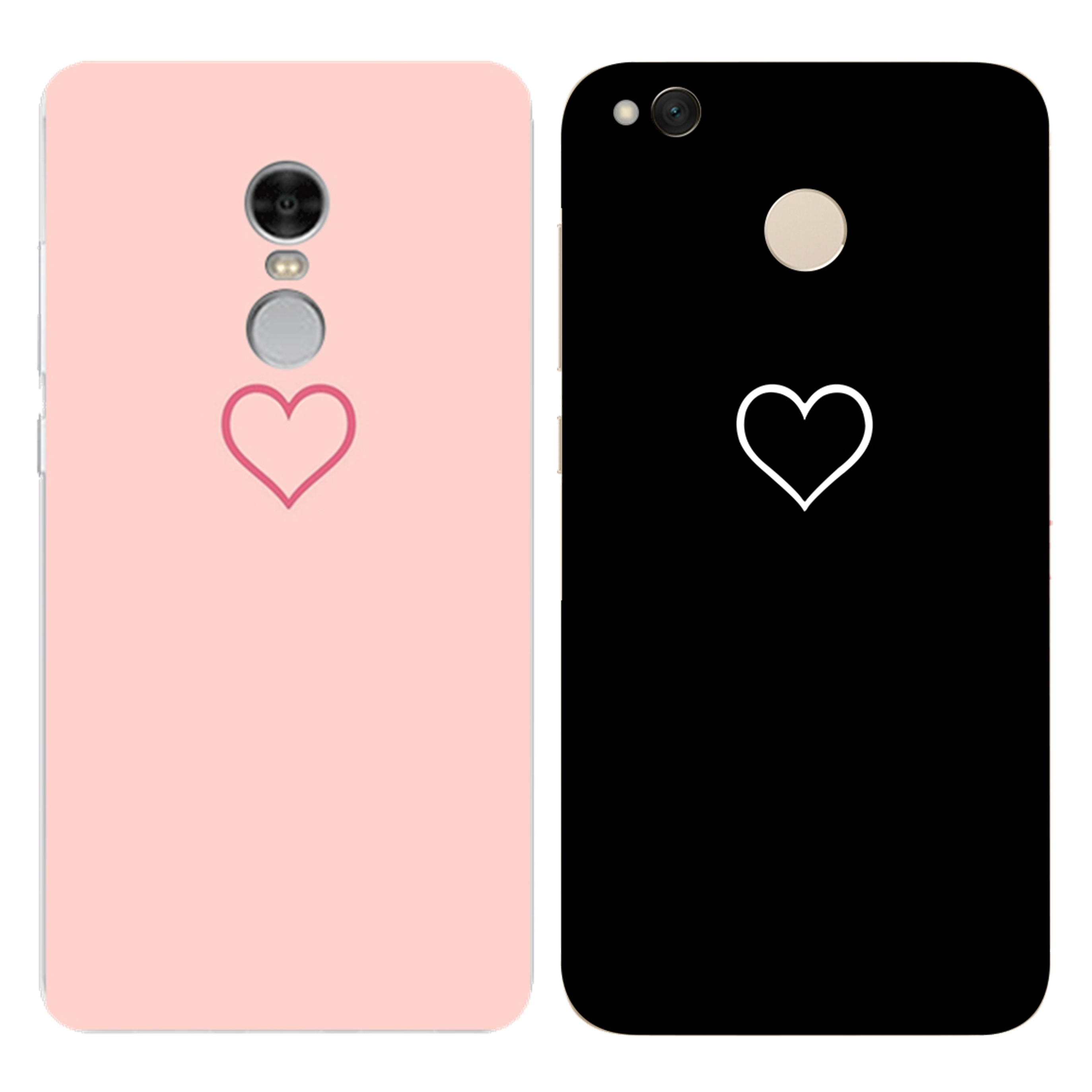 Ultra Thin Phone Case for Xiaomi Redmi 3 3S 4A 4X 4 4S Mi A1 Mi 5X Note 3 4 4X 5A Case Back Cover Luxury Hollow Heart Durable in Fitted Cases from