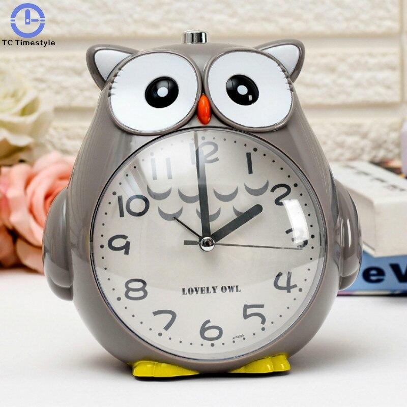 Creative Night Lights Mute Cute Children Cartoon Student Alarm Clock Bedroom Small Cartoon Desktop Portable Digital Number