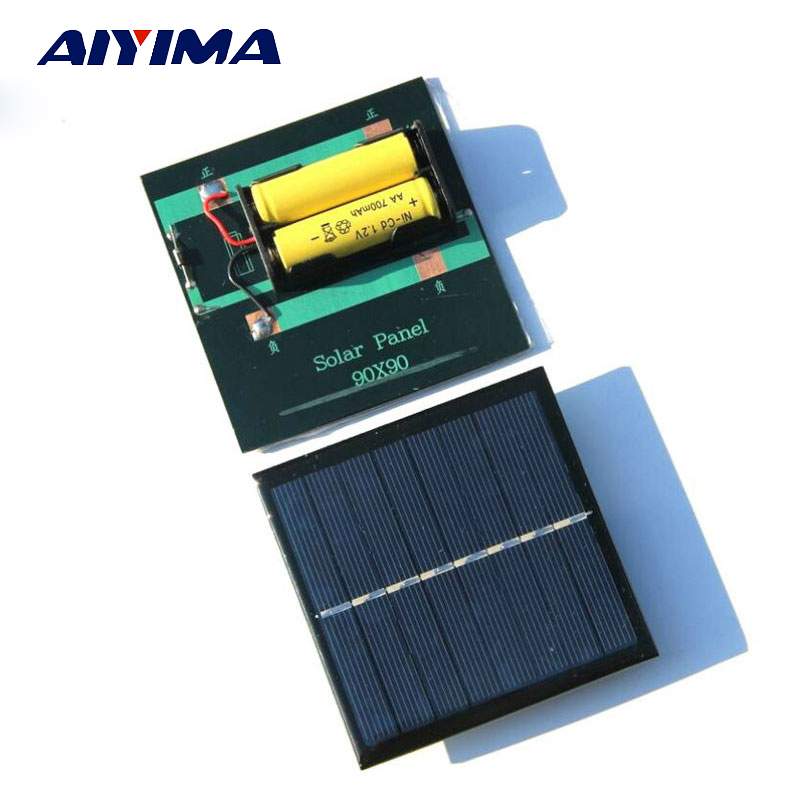 AIYIMA 1Pcs Solar Panel Solar Battery Charger 1W4V Solar Charging Board Solars Power Bank ...
