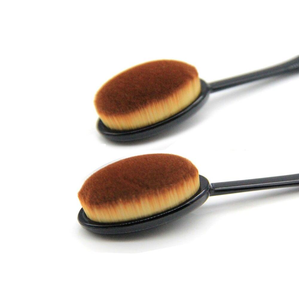 Toothbrush Shape Foundation Brush Makeup Base Concealer Brushes Wet and Dry Dual Use Soft Powder/cream Brush Make up Wash Brush
