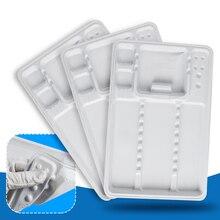 10 шт стоматологический Autoclavable одноразовый пластиковый инструмент разделительный лоток пластиковый Разделенный лоток