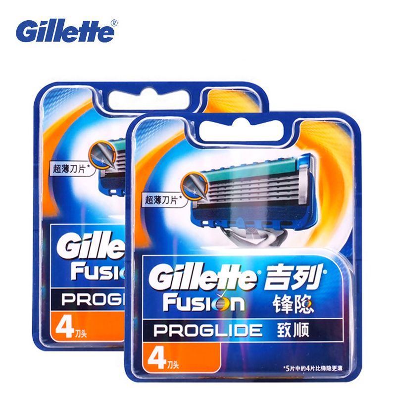 цена на Original Gillette Fusion ProGlide Manual Razor Blade Men'S Shaving Brand Shave Facial Beard Shaver Razors Blades 8pcs For Men