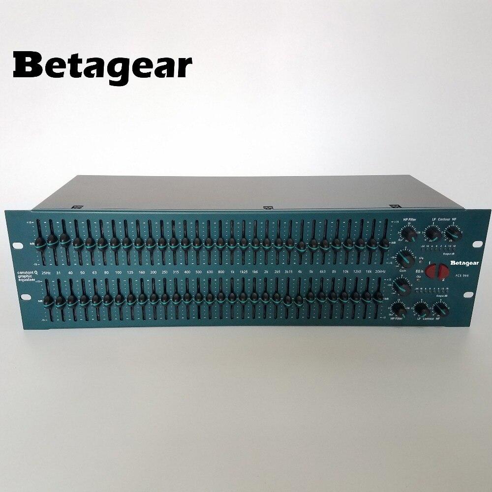 Betagear graphic equalizer audio fcs966 equaliser audio recording studio equipment dual 31 band equalizer dual graphic
