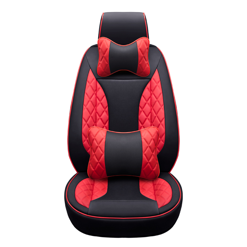 Front Rear Leather Custom car seat cover for Peugeot 307 206 308 407 207 406 408