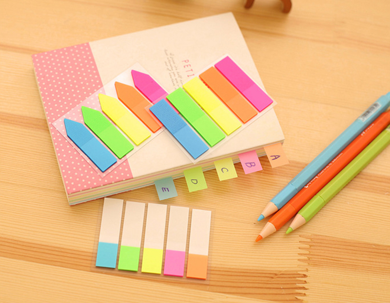 New Rainbow Style Sticky Notes Memo Notebook Bookmark Diary Decor Stickers Office School Stationery Supplies Children Gift Toys