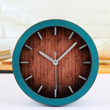 Decoración del hogar reloj despertador al fajr reloj de cuarzo reloj de automóvil digital reloj retro reloj de alarma vintage de plástico ruond
