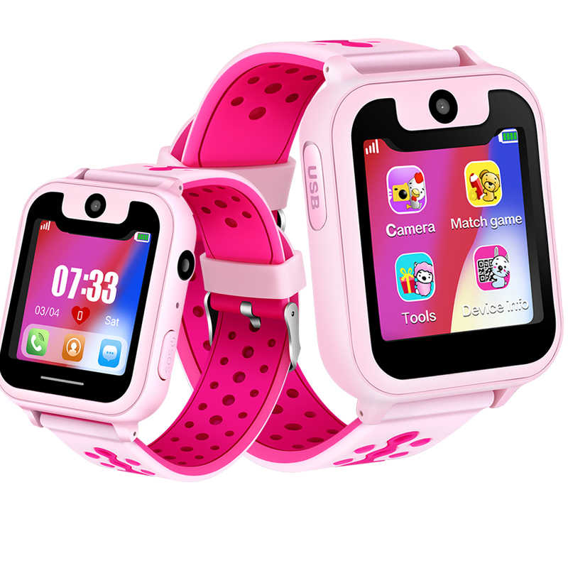 WISHDOIT Popular LED Color Screen Children's Smart Watch GPS Positioning Tracker Safety Distance Setting SOS Support SIM Card