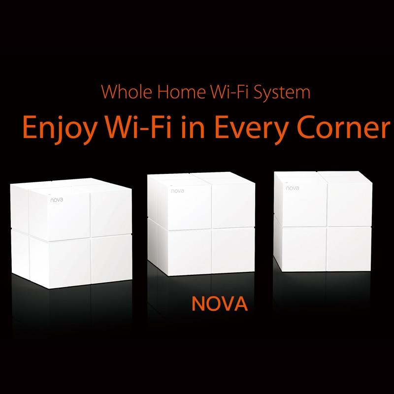 Système Gigabit de routeur WiFi sans fil de WiFi de maille de maison entière de Tenda Nova MW6 avec AC1200 2.4G/5.0 GHz, installation facile, Manag à distance d'app - 6