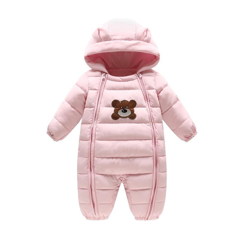 цена на Baby clothes Hooded Climb winter infant clothing baby bear costume warm jumpsuit newborn baby Girl Boys romper snowsuit Overalls