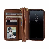 Für Samsung Galaxy Note 8 Abdeckung N950F Note8 Fall Leder Cases Doppel Reißverschluss Geldbörse Karte Tragbare Handytasche Magnetische Rückseite abdeckung