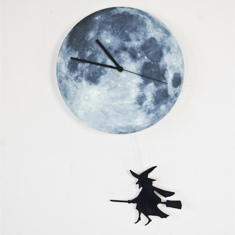 Aliexpress Buy Funlifetm Glow In The Dark Moon Wall Clock