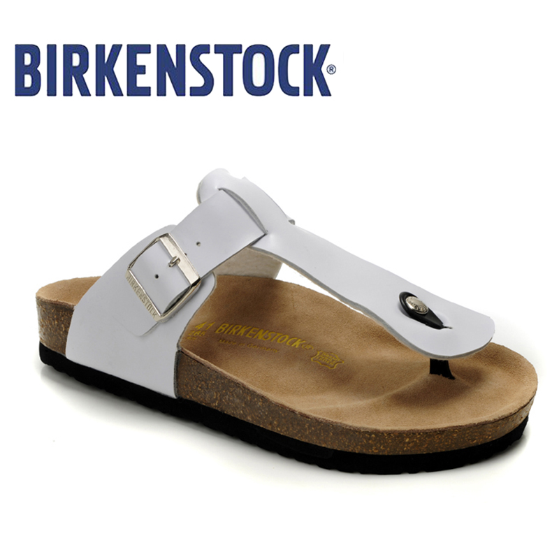 3ae308d536f87e New Arrival BIRKENSTOCK Damen Gizeh Birko Flor Zehentrenner Unisex summer  flat shoes women shoes n free shipping 811-in Low Heels from Shoes on ...