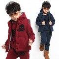 V-TREE casual espesar ropa de niños conjunto más caliente niños prendas de vestir exteriores del invierno de los niños que arropan al bebé del muchacho que arropan