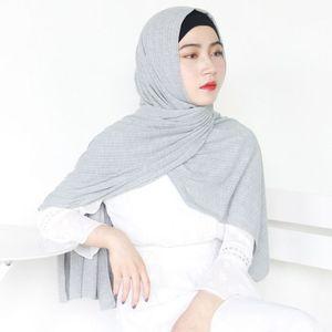 Image 4 - חדש נשים מודאלי כותנה קמטים עיצוב צעיפים מוסלמי חיג אב מוצק צבע מלזיה ג רזי חיג אב ארוך מגבת צעיף רך מטפחת