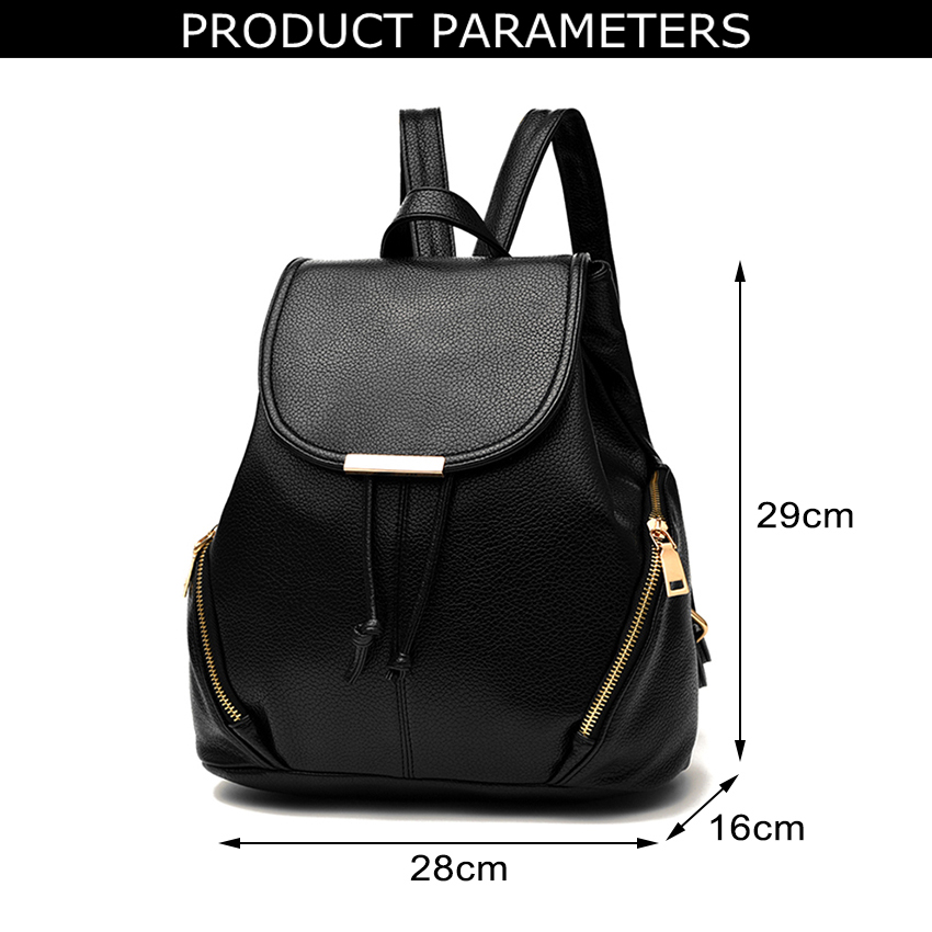 WONZOM Women PU Leather Casual Backpack School Bag For Teenagers High  Quality Women Backpack 9c70456c8a