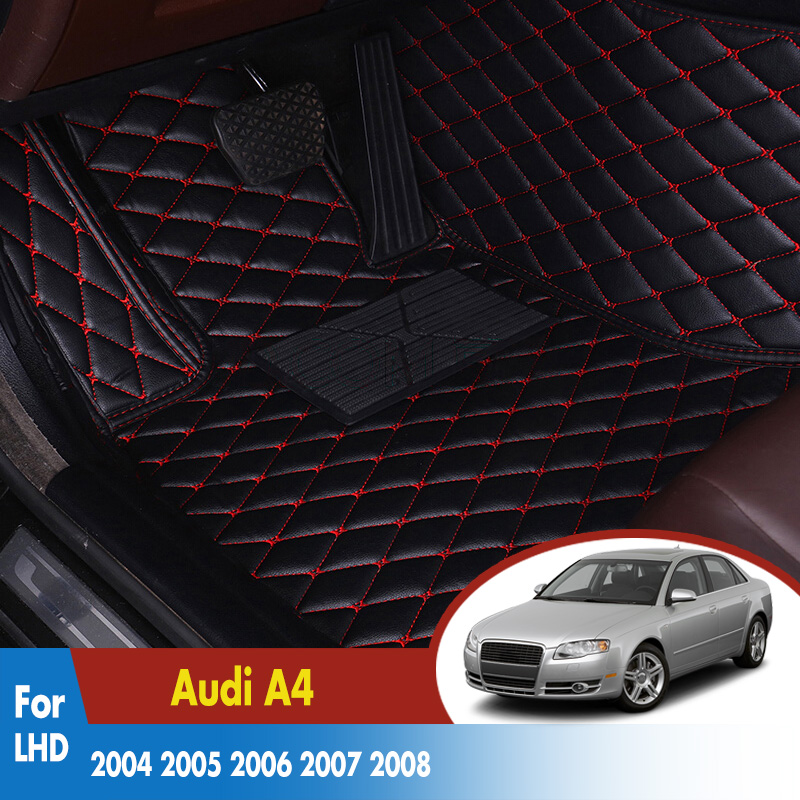 Car Carpets 2006 2007 Auto Leather Rugs Dash Mats Exterior Accessories LHD Car Floor Mats For Audi A4 2004-2008Car Carpets 2006 2007 Auto Leather Rugs Dash Mats Exterior Accessories LHD Car Floor Mats For Audi A4 2004-2008